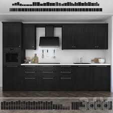 3d модели: Кухни - Кухня <b>Ikea Лерхюттан</b> / <b>Lerhyttan</b> (чёрная ...