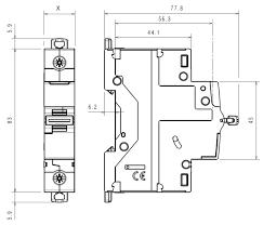 Модульный <b>автоматический выключатель DX3</b>- <b>E</b> 6000 A / 6 kA ...