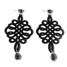 Rhinestone Chinese <b>Knot</b> Teardrop <b>Earrings</b> | Gearbest Mobile