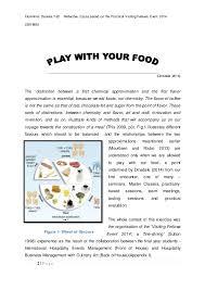 culinary development and innovation essay