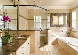idea travertine bathroom walls
