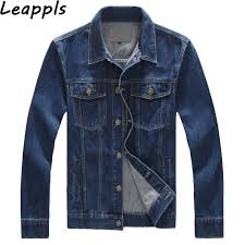 Leappls denim Jackets Mens <b>95</b>% <b>Cotton Plus size</b> M 4XL 5XL ...