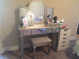 charming hayworth vanity desk with mirror ad makeup tools plus stool and bedding for charming bedroom charming makeup table mirror