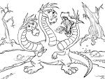 Картинка змей горыныч раскраска