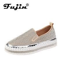 <b>Fujin Brand Women</b> Sneakers Slip on Fashion Platform Flats for ...