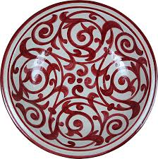 Red Design MAISON ANDALUZ <b>Large</b> Azrou <b>Hand painted</b> ...