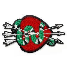 <b>Heart</b> & <b>Snake Embroidered</b> Iron-On Applique <b>Patch</b> | Joyce Trimming