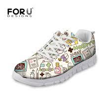 <b>FORUDESIGNS Fashion</b> Woman Lace Up Mesh Sneakers <b>Cartoon</b> ...