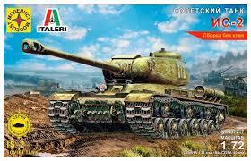 Сборная <b>модель Моделист Советский танк</b> ИС-2 (307217) 1:72 ...