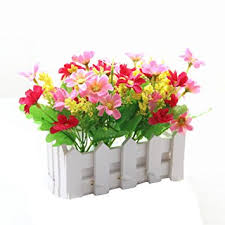 Lopkey <b>Artificial Flowers</b> Home Decorative <b>Simulation</b> Small <b>Potted</b>...