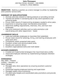 retail store manager resume objective summary of qualifications middot retail sales example resume for retail