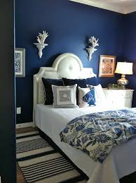 blue bedroom accent wall
