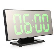 Digital Mirror Surface Alarm Clock With <b>Large LED Display</b> USB Port ...