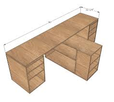 ana white eco modular office desktop made with purebond plywood diy projects ana white completed eco office desk