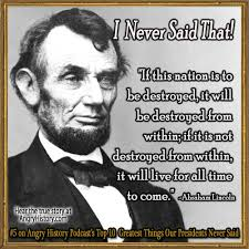 Quotes From Lincoln. QuotesGram via Relatably.com