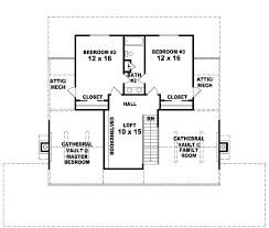 Country Style House Plans   Plan   Upper Second Floor Plan