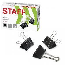 <b>Staff Зажимы</b> для бумаг комплект на 230 листов 12 шт ...