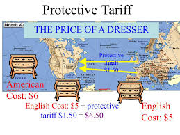 Image result for image of protective tariff