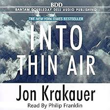 amazoncom into thin air audible audio edition jon krakauer  amazoncom into thin air audible audio edition jon krakauer philip franklin books on tape books
