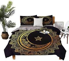 Duvet Cover Crescent Moon Arabic Star Double-Bed ... - Amazon.com