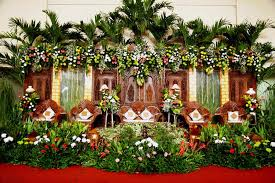 dekorasi pelaminan adat jawa: 32 contoh dekorasi pernikahan sederhana murah ndik home