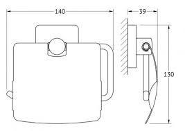 <b>Держатель</b> туалетной бумаги <b>Ellux</b> Avantgarde AVA 066, купить в ...