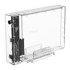 Transparent Series <b>3.5 inch</b> Type-C Hard Drive Enclosure with ...
