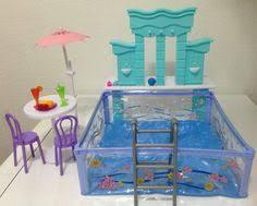 amazoncom barbie size dollhouse furniture water fountain swimming pool play set amazoncom barbie size dollhouse
