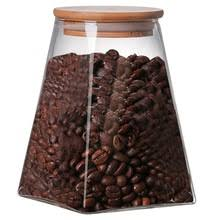 Квадратная стеклянная герметичная банка для <b>хранения кофе</b> ...