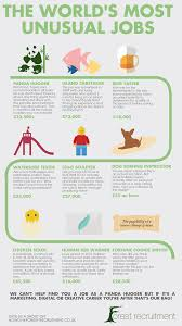 strange and unusual jobs from around the world forest recruitment worlds most unusual jobs infographic
