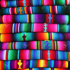 colorful blankets from guatemala stock photo picture and royalty