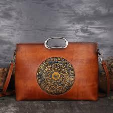 Luxury Women <b>Genuine Leather Handbags</b> Ladies <b>Retro</b> Elegant ...