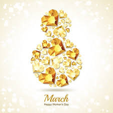 8 March Vector Greeting Card, International Women's Day. Number ...