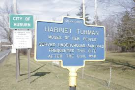 at new national park a window into harriet tubman s life after a historic marker rests in front of harriet tubman s property which was made a national
