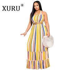 <b>XURU 2019 new</b> hot women's wrapped chest loose dress hanging ...