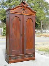 walnut victorian renaissance two door wardrobe armoire 111 inches tall antique armoires antique wardrobes english