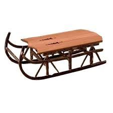 cabin decor lodge sled: pine tree sleigh table at rocky mountain decor we take pride in finding the best in quality products we do the searching so you dont have to