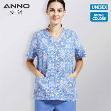 <b>ANNO</b> Cartoon <b>Hospital Scrub</b> Set Cotton Nursing <b>Scrubs</b> for ...