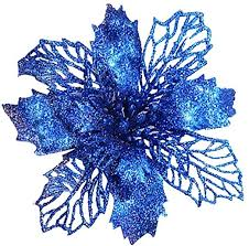 Clearance Sale!! Christmas Decoration Flower,<b>5Pcs Glitter</b> Flowers ...
