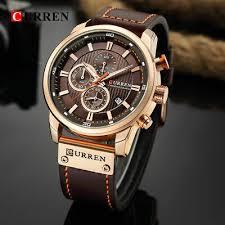 Curren Mens <b>PU Leather</b> Band Strap Wristwatch Sports <b>Military</b> ...