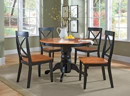 Transitional Dining Room Set Better Homes And Gardens 5 Piece Pedestal Dining Set Black Finish