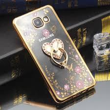 Diamond Crystal TPU <b>Soft Ring</b> Holder Phone <b>Case for</b> Samsung ...
