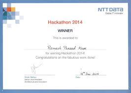 professional achievements ramesh prasad long service award in ntt data