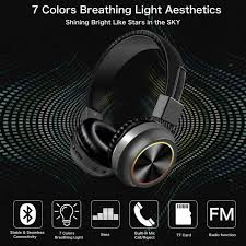 <b>B39</b> Bluetooth 5.0 Headphones <b>Wireless</b> Headset <b>Foldable</b> LED ...