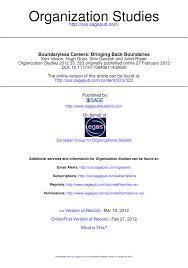 research paper pdf boundaryless careers bringing back boundaries