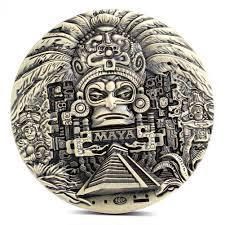 <b>1x Mayan Aztec Calendar</b> Souvenir Prophecy Commemorative Coin ...