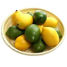 <b>Gresorth</b> 12pcs Yellow & Green Artificial Lifelike Simulation Lemon ...