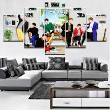 <b>5 Pieces HD</b> Print Large BTS Band Poster Modern Decorative ...