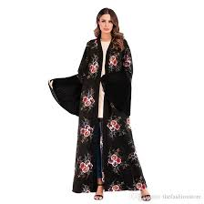 Wholesale Muslim <b>Women Floral Print</b> Abaya Dress <b>S</b>-<b>2XL</b> Islamic ...