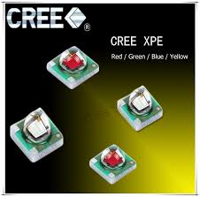 5 pcs lot cree xpe xp e r3 1 3w led emitter diode blue 460 470nm with 20 16 14 12 10 8mm heatsink